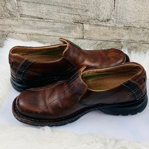 Clarks Brown Loafers slip on size 8M